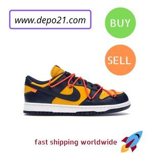 Other - Nike Dunk Low Off-White University Gold Midnight N